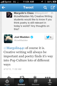 Joel Madden of Good Charlotte