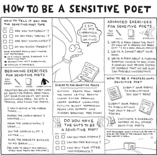 How to be a sensitive poet